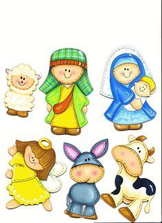 navideños, diversidad de dibujos para el arbol Christmas Clipart, Christmas Nativity, A Christmas Story, Christmas Printables, Christmas Holidays, Xmas, Christmas Ornaments, Nativity Clipart, Sunday School Crafts
