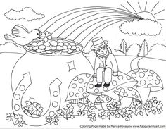 st patrick\'s day coloring pages | St. Patrick\'s Day Shamrock ...