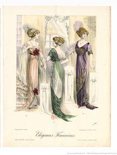 Élégances féminines. Revue mensuelle de la grande couture parisienne 1911