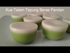 Resep Kue Talam Tepung Beras Pandan (Lembut, Manis dan Gurih) - YouTube Indonesian Desserts, Asian Desserts, Indonesian Food, Malaysian Dessert, Cake Recipes, Dessert Recipes, Malaysian Cuisine, Traditional Cakes, Pudding Desserts