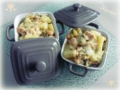 Mini-cocottes de saumon, poireau et pommes de terre