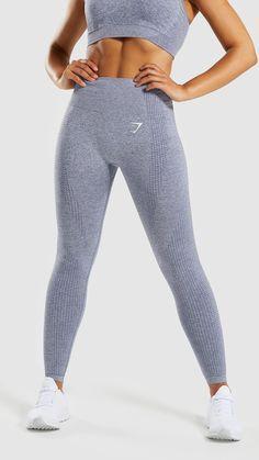 8e4d4c42b7297 Gymshark Vital Seamless Leggings - Steel Blue Marl. Grey Leggings OutfitGym  LeggingsSports ...