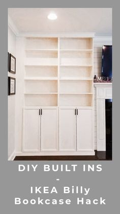 New Screen DIY Built Ins - IKEA Billy Bookcase Hack Strategies Investing in a well-designed couch is a big decision and not just one to produce lightly. Built In Around Fireplace, Fireplace Built Ins, Fireplace Bookcase, Ikea Fireplace, Built In Shelves Living Room, Built In Bookcase, Diy Built In Shelves, Barrister Bookcase, Closet Built Ins