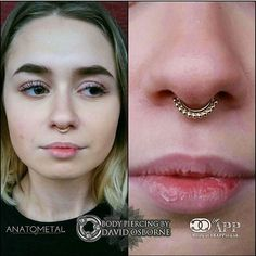 Septums can offer a wide array of different jewellery options and what else looks more stylish and elegant than a @anatometalinc @anatometaluk vaughn ring which is all solid 18k gold. How beautiful and how very fancy. Piercings was performed by the...