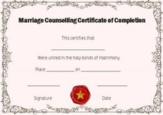 Ojt certificate of completion sample format certificate of free marriage counseling certificate of completion template thecheapjerseys Gallery