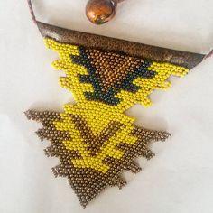 "3 Beğenme, 1 Yorum - Instagram'da Evita Designs (@evita_handmade_art): ""#copper #yellow #huichol #colorful #bracelet #necklace #african #seedbeads #leaf #handmadewithlove…"""
