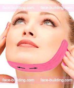 Эстетическое тейпирование лица в домашних условиях - Подтяжка, лифтинг овала тейпами Face Massage, Spa Massage, Massage Therapy, Beauty Skin, Health And Beauty, Face Lift Tape, Face Care, Skin Care, Facial Anatomy