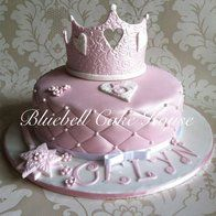 purple quilted baby shower cakes for girls | quilted' cakes, cupcakes and cookies @ CakesDecor.com - cake ...