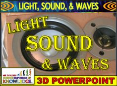 Light, Sound, and Waves Animated PowerPoint Science Education, Science And Technology, Sound Physics, Electromagnetic Spectrum, Speed Of Sound, Group Activities, Sound Waves, Student Learning, Teacher Newsletter
