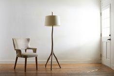 Tree Floor Lamp, Floor Lamps, Rose Tarlow, Melrose House, Armchair, Dining Chairs, Table Lamp, Flooring, Furniture