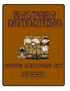 DETECTIVE / MYSTERY CLASSROOM THEME SET. This 20 page set includes multiple printables.