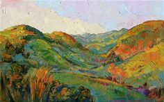 Landmark painting of central California, in the tradition of California Impressionism
