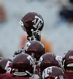 """""""I've seen them play since way back when, And they've always had the grit; I've seen 'em lose and I've seen 'em win, But I've never seen 'em quit."""" -The Last Corps Trip (The Aggies never lose, they just run out of time! Texas A M Football, College Football Teams, Dallas Cowboys, Football Helmets, Football Roster, Aggie Game, Kyle Field, College Station, University Of Texas"""