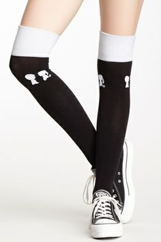 Over-the-Knee Colorblock Socks from HauteLook on shop.CatalogSpree.com, your personal digital mall.