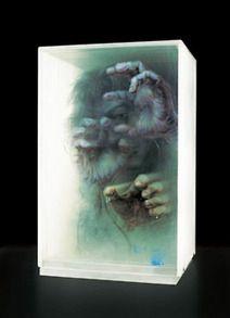 Artist Xia Xiaowan - 3D paintings on glass. Xia...