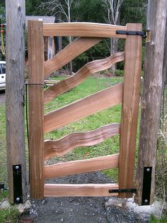 The fence is going to be placed there in order to stop the spiders from spreading, he explained. The easiest way to create a Japanese fence for your backyard garden is to purchase the already constructed fence panel. Wooden Garden Gate, Garden Gates And Fencing, Cedar Garden, Wooden Gates, Wooden Fence, Cedar Fence, Tor Design, Fence Design, Driveway Gate