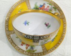 Incredible Rococo Dresden 1900's Tea Cup and Saucer - Edit Listing - Etsy