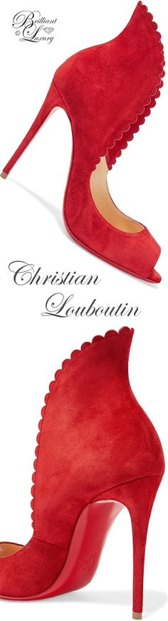 Brilliant Luxury by Emmy DE ♦Christian Louboutin Pijonina scalloped suede Pumps #louboutinworld