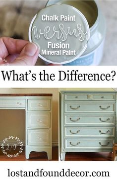 Is Fusion Mineral Paint a chalk paint? All of your chalk paint and Fusion MIneral Paint questions answered here! Chalk Paint Projects, Diy Furniture Projects, Repurposed Furniture, Furniture Makeover, Furniture Refinishing, Distressed Furniture, Antique Furniture, Dresser Makeovers, Craft Paint