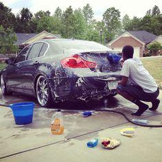 When he was washing the cars  #interracialcouple #interraciallove #interracial #washingcars