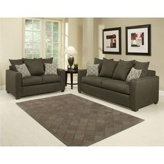 @Overstock - Complete the look of your home with this Barbado Contemporary 2-piece sofa set. The set includes a stunning black sofa and loveseat with espresso finish legs.http://www.overstock.com/Home-Garden/Barbado-Contemporary-2-piece-Sofa-Set/6781137/product.html?CID=214117 $1,187.99