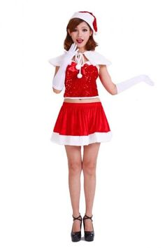 Cute Red Miss Santa Costume Womens Dress Costume Cute Diy Homemade Creative Halloween Costumes For Teens. Costumes For Sale, Halloween Costumes For Teens, Christmas Costumes, Costumes For Women, Santa Costumes, Christmas Dress Women, Womens Christmas, Christmas Time, Costume Dress