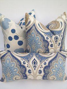 Kravet Latika Ikat Decorative Pillow Cover 10X20BOTH by PillowChix, $36.00