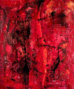 Roma –  Unikat 120cmx100cm Kunst   Abstrakt, Acrylic, Art, Malerei  rot Outsider Art, Community Art, Surrealism, Abstract Art, Google, Artwork, Painting, Abstract, Red