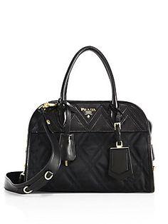 92106ad8c719 Prada - Tessuto Impunto Nylon   Leather Satchel