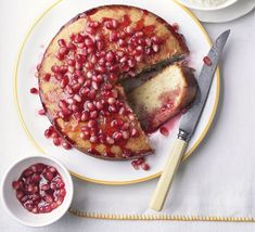 A vibrant cake that's gloriously syrupy and tangy. Eat it warm or cold as a pudding