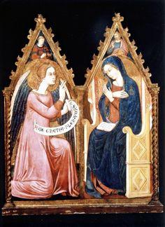 Anonimo , Maestro del Trittico di Panzano - sec. XIV - Annunciazione - insieme