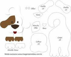 Best Door Hangers For Kids Christmas Ornament Ideas Dog Template, Applique Templates, Applique Patterns, Felt Animal Patterns, Stuffed Animal Patterns, Kids Christmas Ornaments, Felt Ornaments, Dog Crafts, Felt Crafts