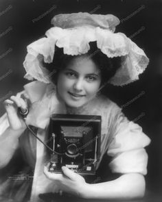 Camera Girl 1909 Vintage 8x10 Reprint Of Old Photo