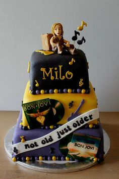 Bon jovi cake I want this cake for my bday who cares if it says milo on it?