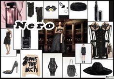 Il mio Style Board con le idee regalo di Natale in nero