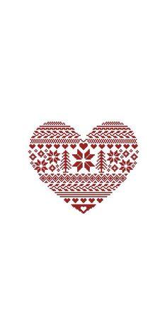 Nordic pattern winter iPhone wallpaper