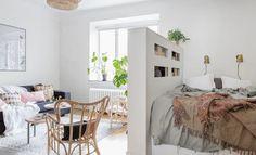 20 nápadů, jak si ustlat v obývacím pokoji, aniž by postel překážela - HomeInCube