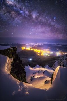 Milky Way shot near the top of The Remarkables overlooking Queenstown,   New Zealand in August By  AKA  Jordan McInally  Undersoul Photography