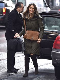 Winter threads: Jessica Alba did not disappoint in the fashion stakes when she was out and...