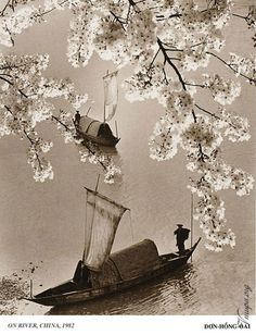 On River,China 1982 by Don-Hong-Oai -Art is a journey into the most unknown thing of all - oneself. Nobody knows his own frontiers… I don't think I'd ever want to take a road if I knew where it led. --  Louis Kahan
