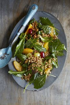 Wheat Berry, Kale, Grape, and Orange Salad - Read More at Relish.com