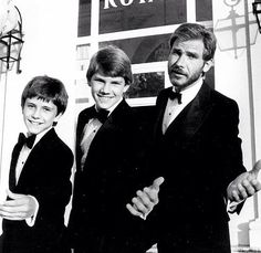 Harrison Ford with his sons Ben (1967) and Willard (1969). Their mother is Mary Marquardt.