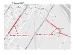 "Street Closures for ""Need For Speed"" filming: Friday, April 26, 2013. #Macon"