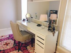 IKEA MICKE Desk and Drawer as Vanity Dressing Table Idea