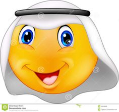 Image from http://thumbs.dreamstime.com/z/emoticon-smiley-arabic-dress-illustration-46948998.jpg.