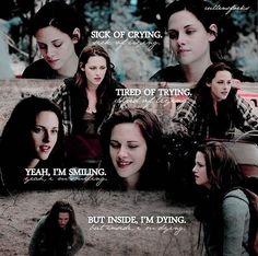 Twilight Movie Scenes, Twilight Jokes, Twilight Saga Quotes, Bella Swan, Kristen And Robert, Tired Of Trying, Fan Girl, Kristen Stewart, Love Book