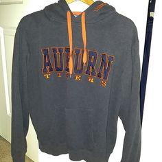Auburn hoodie! Dark Heather Gray with blue and orange letters. Says large but fits like medium. stadium Tops Sweatshirts & Hoodies