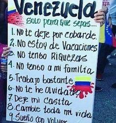 """10. TE AMO  Esta es la realidad del venezolano emigrante exiliado injustamente por falta de oportunidades comidas medicinas seguridad y paz. Irse del país es una de las cosas más duras que he tenido que hacer en mi vida (por no decir la más). Las razones todos las sabemos. Escuchar el himno nacional e incluso un """"Epa pana qué más?"""" en la concentración de ayer en Madrid me aguaba los ojos y me rompía el corazón. La impotencia de estar lejos de donde y con quienes quieres estar es algo que no…"""