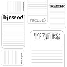 Awesome PDFs to use for cards or journals