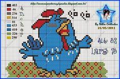 ponto cruz da galinha pintadinha - Pesquisa Google